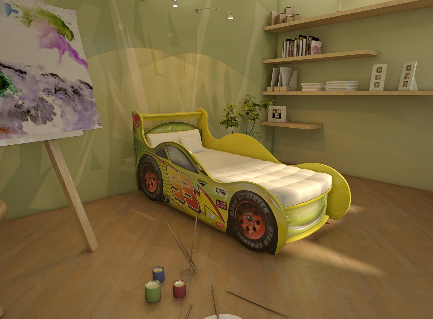 Как сделать кровать-машину детскую