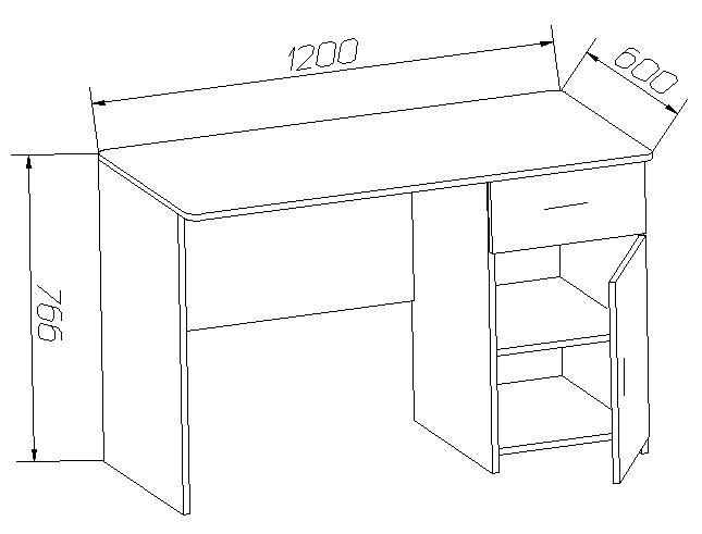 Письменный стол чертежи и схемы