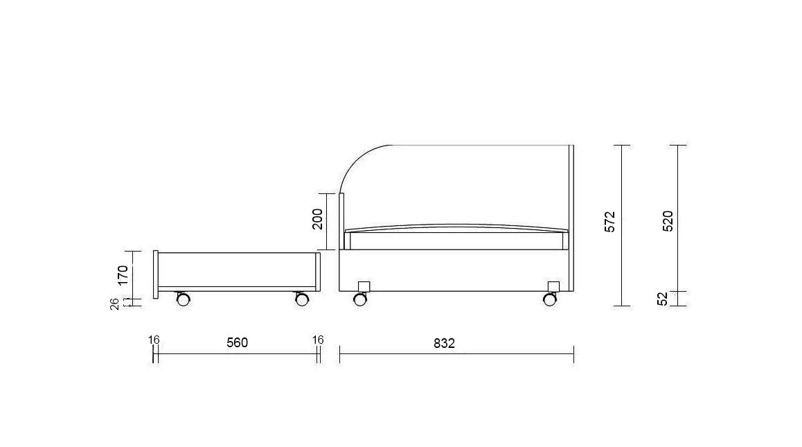Выдвижная кровать для детей  чертежи