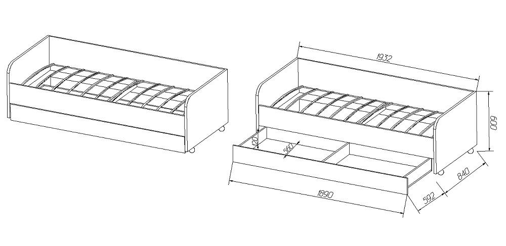 Детская кровать чертежи размеры