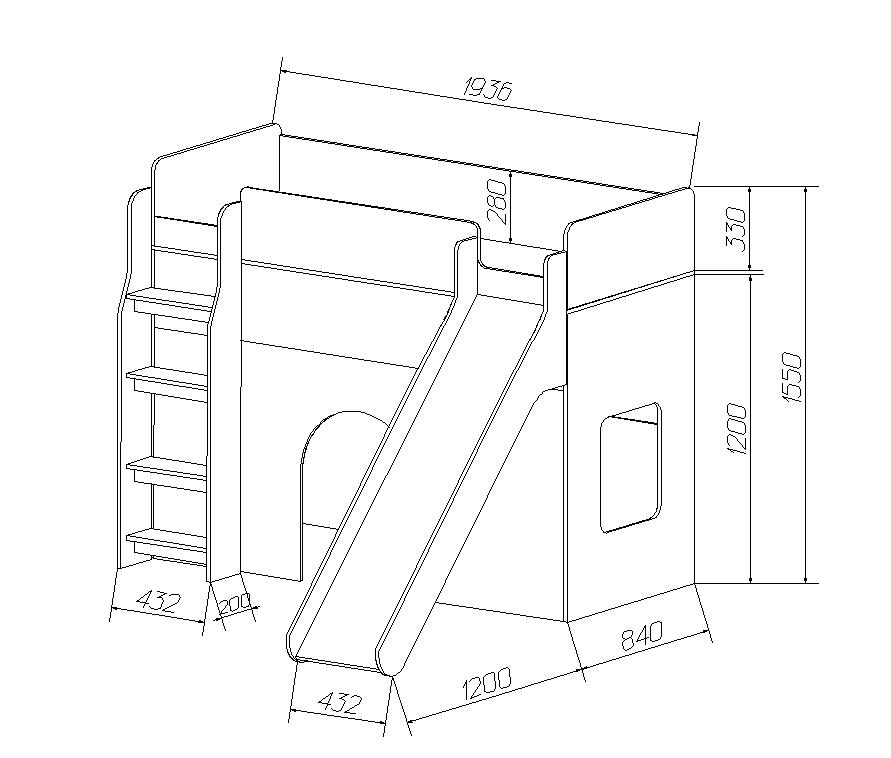 Кровать чердак своими руками чертежи размеры 131