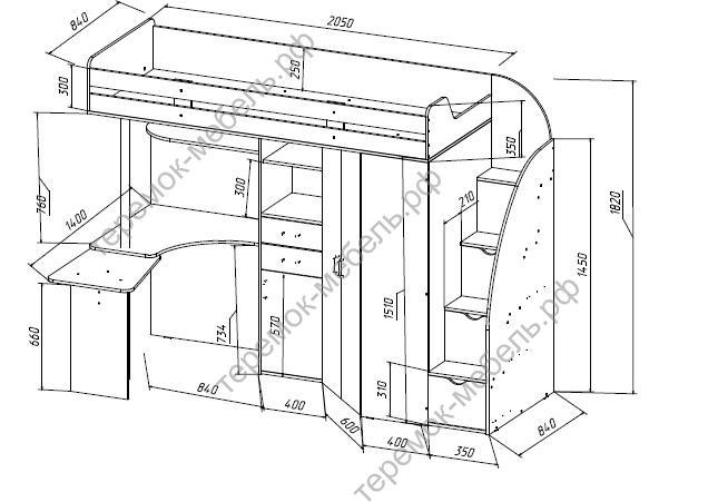 Схема по сборки кровать чердак орбита 1.