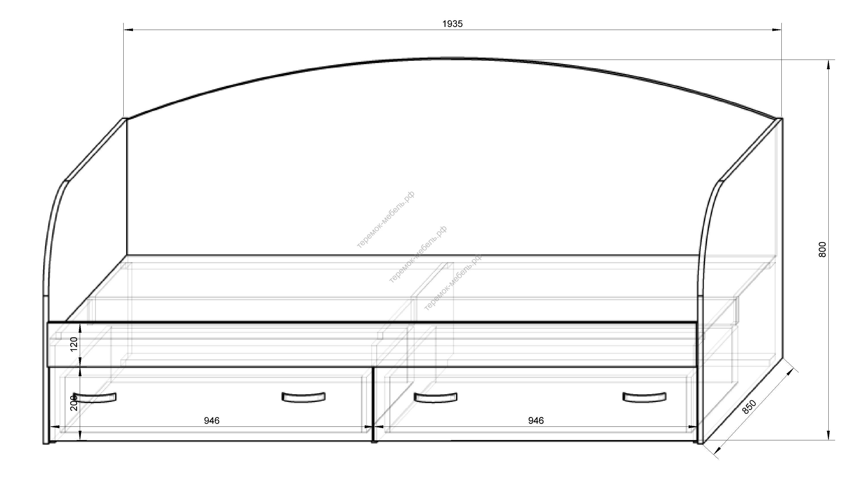 Кровать своими руками чертежи и размеры схемы и проекты эскизы односпальная 56