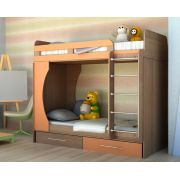 Двухярусная кровать Орбита-2 (цветной фасад), 203*Н179*85,4, спальное место  80*200