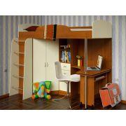 Кровать чердак Теремок - детская мебель для мальчиков и девочек