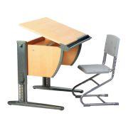 Детская парта + стул (СУТ 14). Комплект растущей мебели ДЭМИ.
