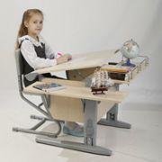 Растущая парта + стул + приставка + боковая приставка (СУТ 14-02). Парта Дэми.