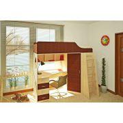 Кровать чердак Орбита-7 - детская мебель Д1936хВ1764хГ834 мм, спальное место 1900*80