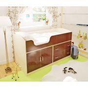 Кровать чердак Орбита-9 - детская мебель для детей, Д1632хВ880хГ736 мм, спальное место 160*70