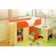 Детская мебель Орбита-10 с рабочей зоной, спальное место 190х80