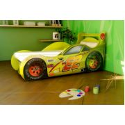 Кровать машина Молния Ред Ривер: Красная, синяя, желтая Цена с матрацем 155х67см