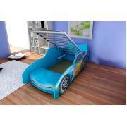 Кровать машинка Top Speed (Топ-Спид): Синяя, красная, голубая Цена с решеткой 160х70 см