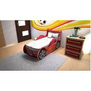 Кровать машина Шериф (Sherif) Ред Ривер: красная и синяя цена с решеткой 160х70см