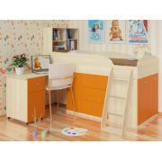 Детская кровать Дюймовочка. Спальное место 80*190 см. Выбираем цвет!
