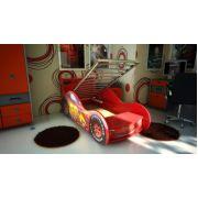 Кровать машина Молния с решеткой 170х70 см