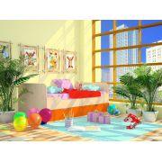 Кровать Орбита-11/3(нижняя) НОВИНКА. спальное место 160х70 см. 6 цветов фасада.