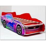 Кровать машина детская Мустанг ЛЮКС с ортопедической решеткой 170х70