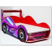 Кровать машина детская Спорт Кар (Sport car) Стандарт без ортопедической решетки, спальное место 150х70