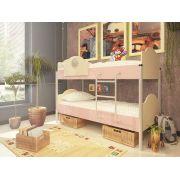 Двухъярусная кровать Орбита-12 (корпус дуб кремона / фасад розовый)