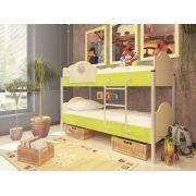 Двухъярусная кровать Орбита-12 (корпус дуб кремона / фасад салатовый)