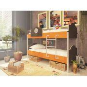 Двухъярусная кровать Орбита-12 (корпус венге / фасад оранжевый)