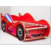 Кровать машина Спорт Кар-2 (Sports car) Люкс в комплекте с ортопедической решеткой 170х70