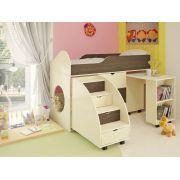 Детская кровать Орбита-14, спальное место 160*70 см(корпус дуб кремона,фасад венге)