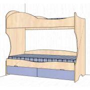 Детская двухъярусная кровать 20 - серии Дельта
