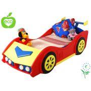 Детская кровать машина с подсветкой ЭкоКар. Спальное место 140х70см. Массив ангарской сосны!!!