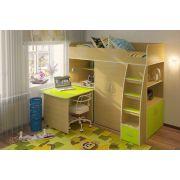 Кровать-чердак детская Орбита 18 с выкатным столом