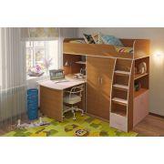 Кровать чердак для подростков Орбита 18 сп. место 190х80см