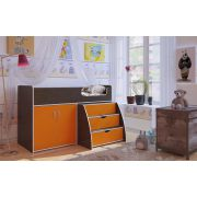 Кровать-чердак Орбита-23 венге/оранжевый