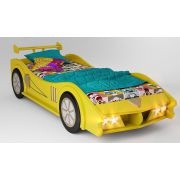 Кровать в виде машины Макларен желтого цвета спальное место 170х80