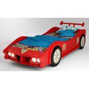Кровать-машина Макларен красная, матрац 170х80см