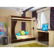 Детская кровать Фанки Кидз 2 для двоих детей без комода