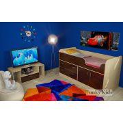 Детская кровать-чердак Фанки Кидз 9 + подставка под TV 13/22СВ