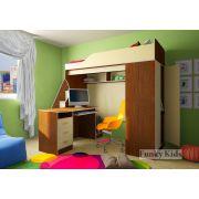 Детская кровать-чердак Фанки Кидз 11/1 + письменный стол 13/1СВ + тумба-лестница 13/8СВ