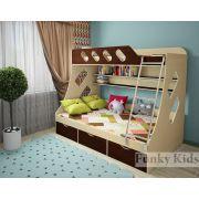 Детская двухъярусная кровать Фанки Кидз 16