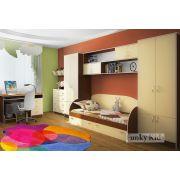 Детская мебель Фанки Кидз 17 с модулями СВ: 13/1 + 13/5 + 13/11 + 13/2 + 13/7 + 13/12 + 13/2