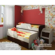 Двухъярусная кровать Фанки Кидз 8 с лестницей-комодом 13/19СВ + бортик 13/17СВ (2 шт.)
