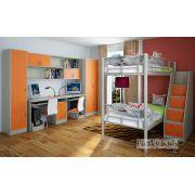 Детская комната - кровать Фанки Лофт 1 с модулями СВ: 13/8 + 13/51 + 13/10 + 13/12 + 13/2