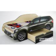 Детская кровать-машина БМВ Х5 со спальным место 170х80 см