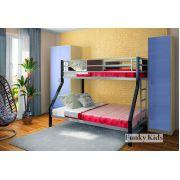 Кровать для двоих детей Фанки Лофт-2 + шкафы: 13/3СВ и 13/10СВ