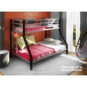 Детская металлическая двухъярусная кровать Фанки Лофт 2