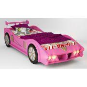 Кровать-машина Макларен розовая, матрац 170х80см