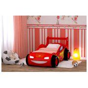 Кровать-машина Молния-Пластик с объемными колесами