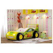 Кровать-машина для детей Молния-Пластик с объемными колесами