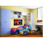 Детская комната фанки кидз (13/4 + 13/3+ 13/12СВ + кровать машина Молния Фанки