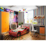 Комната фанки кидз(13/11 + 13/1+13/2СВ) + кровать машина молния фанки с выдвижным ящиком