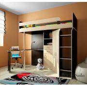 Детская кровать Фанки Соло-2 - Венге/Дуб кремона